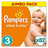 Pampers - Sleep & Play - Couches Taille 3 (5-9 kg) - Jumbo Pack (x82 couches)