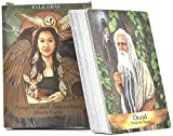 Afaneep Angels and Ancestors Oracle Cards, 55 PCS Tarjetas Oráculo de Ángeles y Ancestros: Angels and Ancestors Cards Oracle Game of Tarot Beginners Card