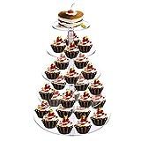 DAWOO Cupcake Ständer Acryl Cupcake Stands Etagere für Hochzeitsfeier Birthday Muffin Donut (4 in 1)