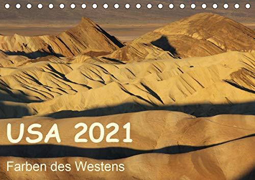 USA 2021 - Farben des Westens (Tischkalender 2021 DIN A5 quer)