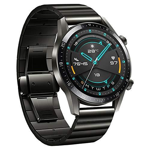 Leepesx Sostituzione Cinturino Cinturino Cinturino in Acciaio Inossidabile 22mm Compatibile con Huawei Watch GT2 46mm / Honor MagicWatch2 46mm / Honor MagicWatch