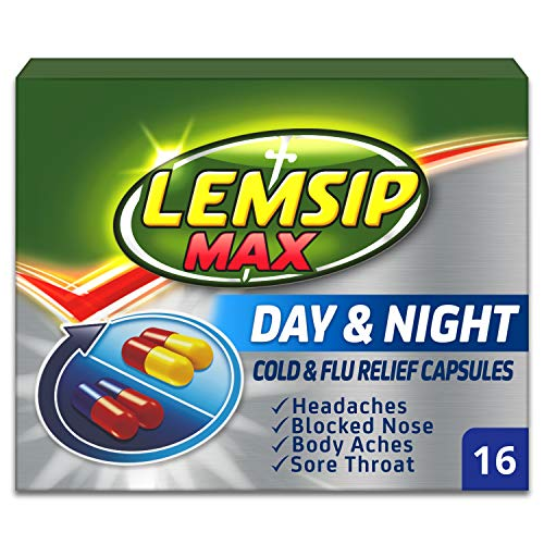 Lemsip Max Day & Night Cold & Flu Relief Capsules, 16 Capsules