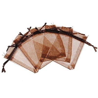 Neuvième City Lot de 100Pochette cadeau en organza avec cordon Pour Festival Drawable Bijoux sac emballage cadeau mariage dragées bonbons Sac