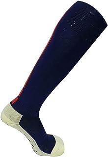 Toalla engrosada calcetines de fútbol medias antideslizantes transpirable que absorbe el sudor calcetines deportivos 3 pares,NavyBlueX3