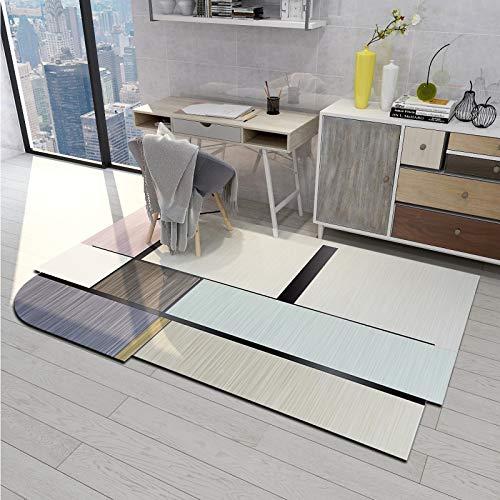 SN Huipeng Alfombra redonda grande moderna geométrica, sala de estar, dormitorio, irregular ovalada, lavable, no se desprende de la alfombra decoración del hogar 200 x 300 cm