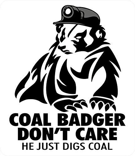 "3 - Coal Badger Don't Care Hard Hat Helmet Sticker ""Sons of Coal"" H915"