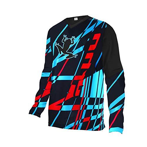Uglyfrog ComeDe01 Bike Wear Designs Erwachsener Motocross Jersey Cross Offroad Enduro Downhill Shirt Atmungsaktiv Lange Ärmel Rundhalsausschnitt or V-Ausschnitt