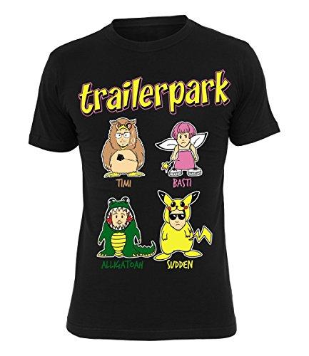 Trailerpark T-Shirt Comic, Farbe:schwarz, Größe:XXL