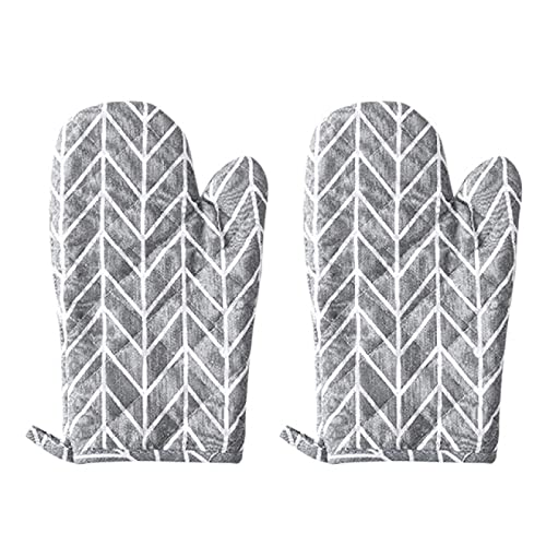 AiongOven Gloves,2pc Oven Gloves Grill For Cooking Baking Grilling Oven Thick Heat Insulation Gloves