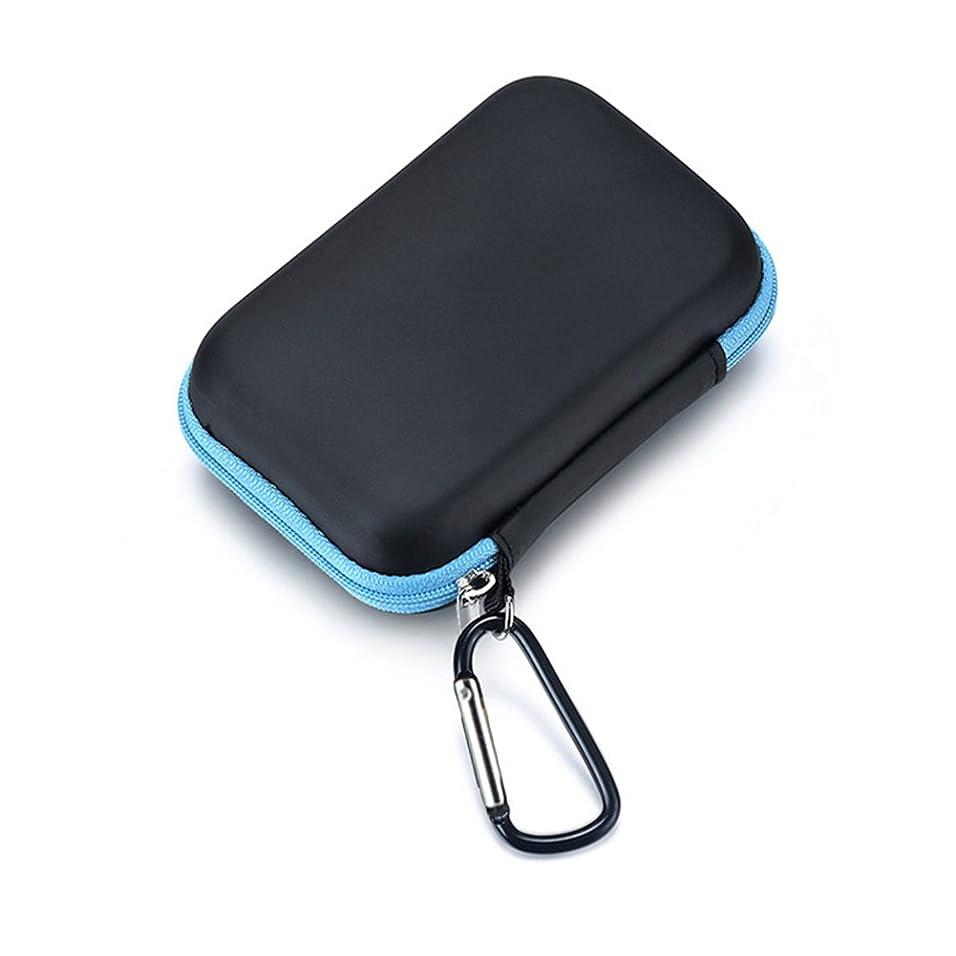 家禽放映ずんぐりしたQIN エッセンシャルオイル収納ケース 精油ケース 化粧ポーチ 携帯用化粧バッグ メイクボックス 精油 ケース ミニボトルケース 13.5 * 8.5 * 4.5cm 15本用