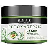 John Frieda Mascarilla Detox, Tratamiento Hidratante, Pelo Dañado y Seco, Reparador, Verde, 250 Mililitros