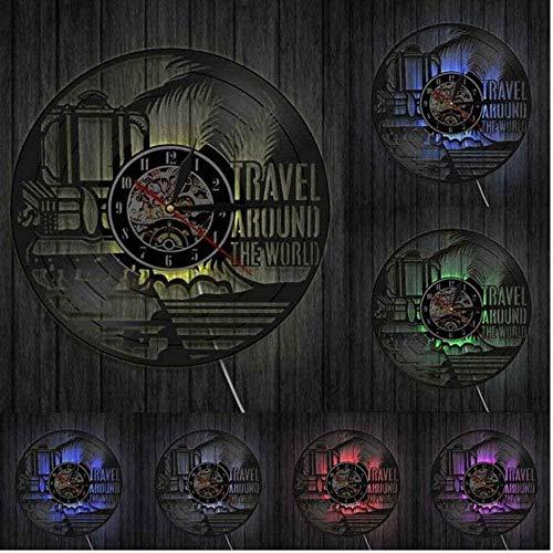 thetobea Viaje Alrededor del Mundo Vacaciones Turismo Reloj de Pared Viajes Doodles...