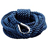 BTK Cima Corda Fune a Treccia Colore Blu di Ancoraggio e Ormeggio in Poliestere ad Alta Tenacità con Redance Gancio in Acciaio Inox per Barca in Nautica Mare Campeggio Camper (12 mm * 9 Mt)