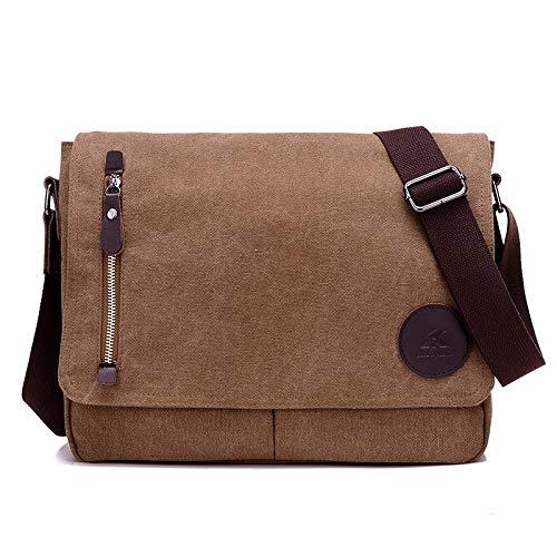 HKHJN Nieuwe canvas man tas casual schouder Messenger Britse retro mode grote capaciteit tas sporttassen