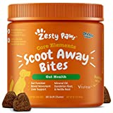 Zesty Paws Scoot Away Soft Chews for Dogs - with Bromelain, Vita Fiber & Dandelion Root for Digestive Support Against Scoots for Gut Health & Support for Normal Bowel Movement - 90 Soft Chews