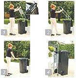 Pressa per rifiuti con robusta struttura in acciaio STABIELO, per contenitori da 120 litri, Prodotto MADE in GERMANY, non progettata per pressare carta o giornali ma per compost e rifiuti umidi