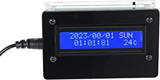 Weytoll Digital Clock Kits 1602 LCD DIY Digital Clock Kit with Acrylic Case Time Temperature Date Week Display 3-channel A...