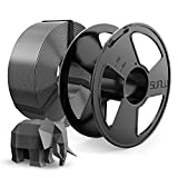 SUNLU Filamento PLA 1.75mm MasterSpool, PLA Filamento Impresora 3D Reutilizable Spool, Precisión Dimensional +/- 0.02 mm, 1kg Spool(2.2lbs), 1.75 PLA Gris