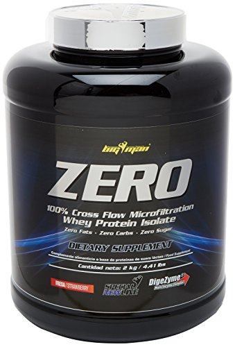 Big Man Nutrition Zero Whey Proteína Isolate, Fresa - 2000 gr
