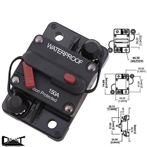 Bouton de réinitialisation manuel 150 A pour disjoncteurs utilisés dans les véhicules spéciaux,...