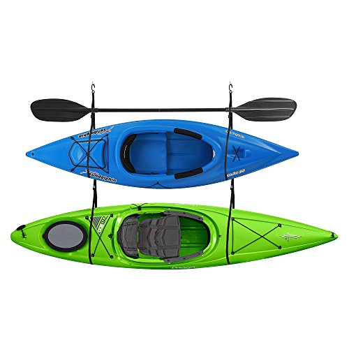 2029 Double Kayak Storage Strap GarageCanoe Hoists 100 lb Capacity