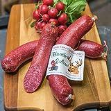 Hirschsalami | mild geräucherte Edelsalami aus Hirschfleisch | Wildsalami | Wildwurst Spezialität aus dem Harz | Vakuumverpackung