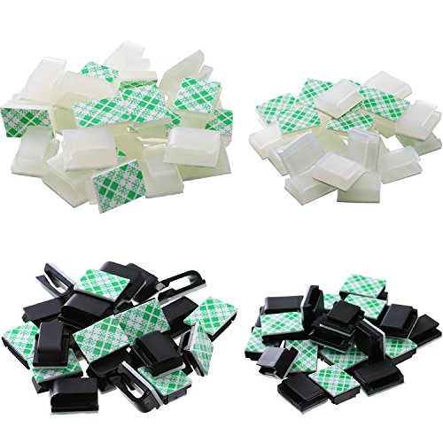 eBoot 100 Pieces Adhesive Cable Clips