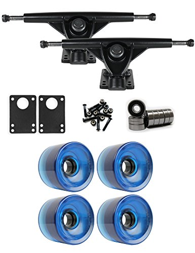 TGM Skateboards RKP Black Longboard Trucks Wheels Package 70mm x