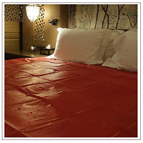 Sábanas Impermeables Atractivas Regalo Sorpresa navideño para Pareja, 200 x 220 cm, Rojo