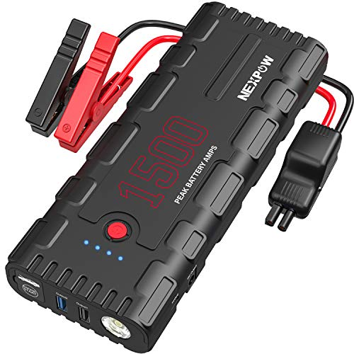 Find Bargain NEXPOW Car Battery Starter, 1500A Peak 21800mAh 12V Auto Car Jump Starter Power Pack wi...