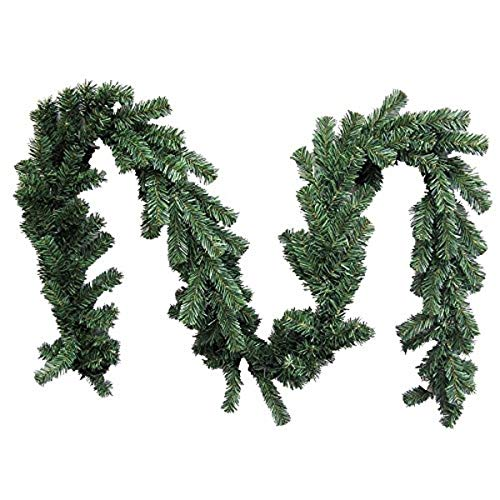 Admired By Nature GXW9812-Natural 180 puntas de pino canadiense de Navidad, 9 pies x 10 pulgadas de ancho, guirnalda, color verde