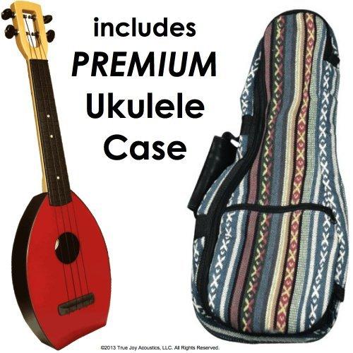 FLEA Ukulele (RED, Concert) + Eddy Finn'Hippie' Bag