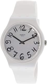 Swatch Mens Quartz Watch, Analog Display and Silicone Strap SUOW153