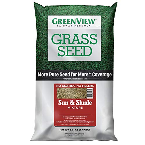 GreenView 2829338 Fairway Formula Grass Seed Sun & Shade Mixture, 20 lb