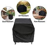 Essort - Funda Impermeable para Barbacoa, Tela Protectora para Parrilla Grill, Color Negro, 80 x 66 x 100 cm