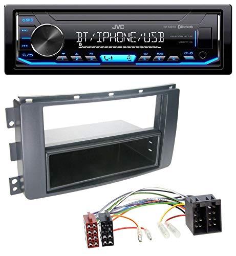 caraudio24 JVC KD-X351BT AUX USB Bluetooth MP3 Autoradio für Smart ForFour 454 ForTwo 451 ISO