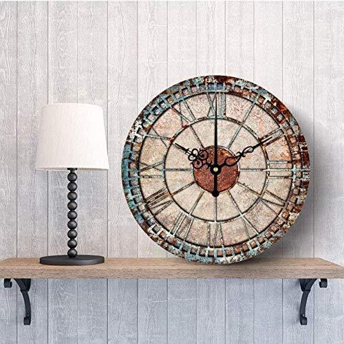 Reloj de Pared Decorativo congelado Diseño Moderno Reloj de Pared Grande silencioso Reloj Shabby Chic Decoración para el hogar Decoración para Sala de Estar Excellent