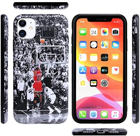 The Last Shot MJ Phone Case with Full Protective Soft Grip Premium Silicone TPU Fashion Designer Cover Compatible with iPhone 11 Pro Max Case