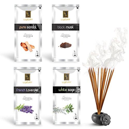 Zed Black Luxury Premium Fragrance Incense Sticks Combo of 4 Different Fragrances for Aromatic Environment