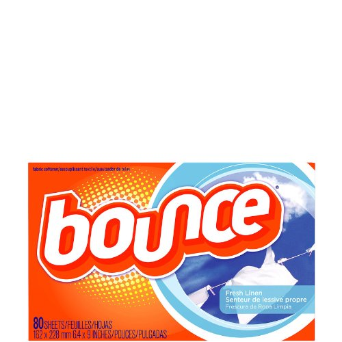 Bounce 80 Ct 6.4x9' Sheets Fabric Softener Scent Level 1