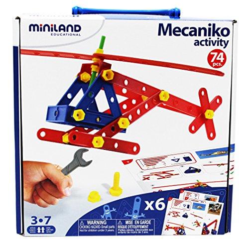 Miniland - Mecaniko, Juego de construcción,, 74 Piezas, Mul