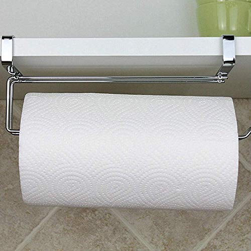NZKW Soporte para Papel higiénico Soporte para Rollo de Cocina Soporte para Papel higiénico de Acero Inoxidable Organizador Colgante Estante Toallero Soporte para gabinete Percha para s