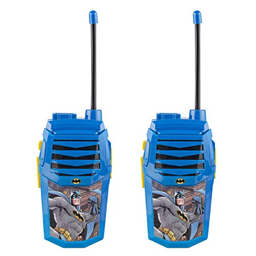 Batman Night Action Molded Walkie Talkies for Kids WT2-01082 | Safe and Flexible Antenna, 1000ft Range, Easy-to-Use Power Switch, Belt Clip, Pack of 2, Stylish Appearance, 2-Pack