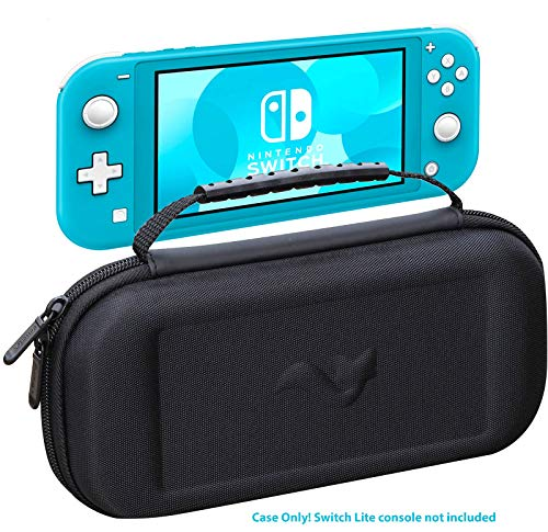 ButterFox Slim Carrying Case for Nintendo Switch Lite with 19 Game and 2 Micro SD Card Holders, Storage for Switch Lite Accessories (Black)