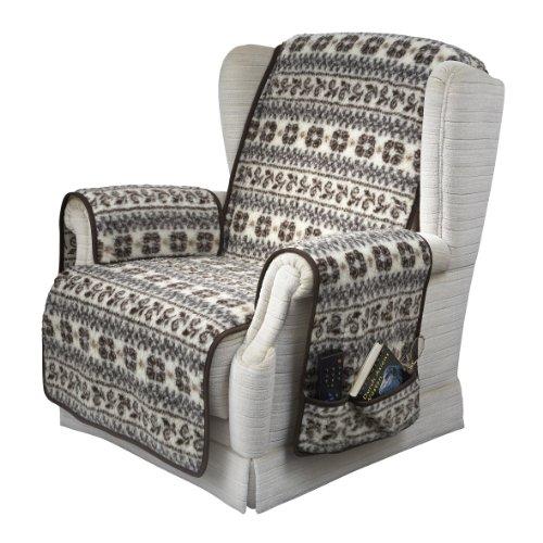 kombinierter Armlehnen- und Sesselschoner, Farbe Wolle Malmö, Größe 150 cm x 50 cm + 2 mal 65 cm x 40 cm mit 2 Taschen, 1000000007026