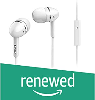 (Renewed) Philips SHE1455WT in-Ear Headphones with Mic (White)