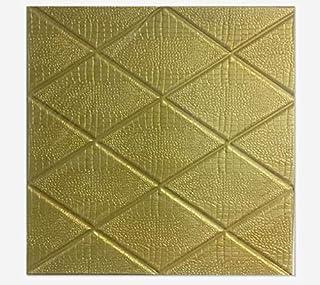 70x77cm PE Foam 3D Wall Stickers Safty Home Decor Wallpaper Sticker,gold