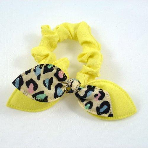 Rougecaramel - Elastique bracelet double nœud - jaune