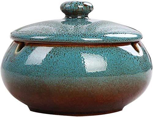 Cenicero para exterior con tapa Pequeño Cenicero de viento de cerámica Vintage...
