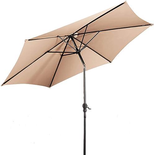 popular Giantex outlet sale 10ft Outdoor Patio Umbrella, Market Table umbrella w/Tilt Adjustment and discount Crank, 180G Polyester, Garden Canopy for Deck Backyard Pool Indoor Outdoor online